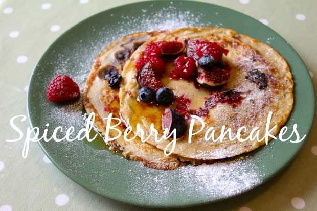 Spiced Berry Pancakes Title Page